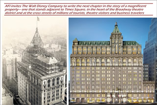 Assignment: Persuade Walt Disney Company to establish a hotel in the old New York Times building