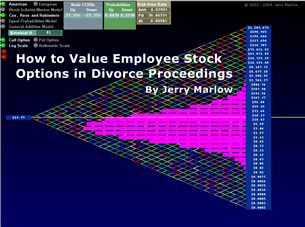 Valuation of stock options in divorce